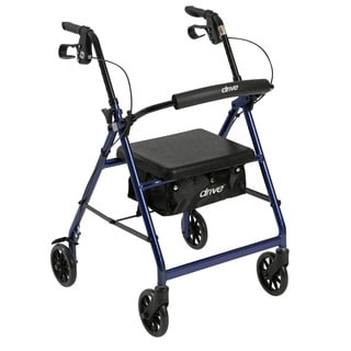 Drive Aluminum Fold Up/ Removable Back Support Rollator