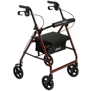 Aluminum Fold Up/ Removable Back Support and Padded Seat Rollator