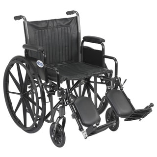 "Drive Medical Silver Sport 2 Wheelchair (Detachable Desk Arms,Elevating Leg Rests,16"" Seat)"
