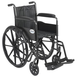 "Drive Medical Silver Sport 2 Wheelchair (Fixed Arms and Swing away Footrests, 16"" Seat)"