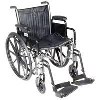 Drive Silver Sport 2 Detachable Desk Arms/ Footrests Wheelchair