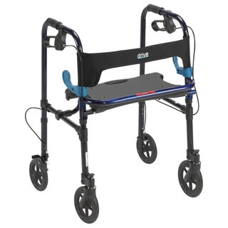 Drive Medical Clever Lite Walker Rollator - flame blue (3 options available)