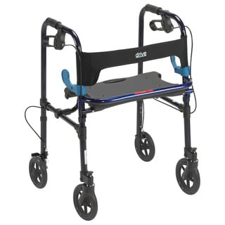 "Drive Deluxe Adult Clever Lite Rollator Walker (Flame Blue, Adult, 5"" Wheels)"