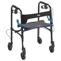 Drive Medical Clever Lite Walker Rollator - flame blue