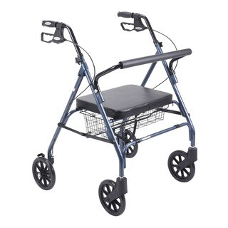 Drive Heavy Duty Blue Bariatric Large Padded Seat Rollator Walker