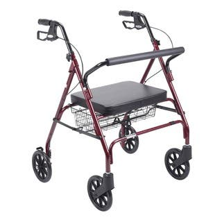 Drive Heavy Duty Red Bariatric Large Padded Seat Rollator Walker|https://ak1.ostkcdn.com/images/products/5274618/P13090231.jpg?impolicy=medium