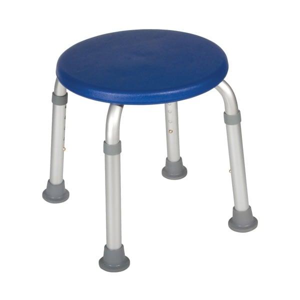 Adjustable Height Blue Bath Stool