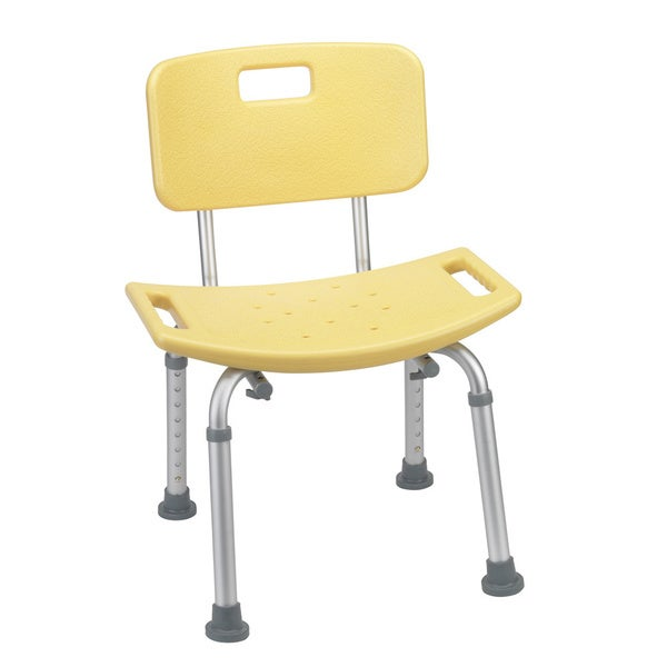 Yellow Bathroom Safety Shower Tub Bench Chair with Back