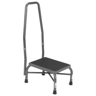 Drive Heavy-duty Bariatric Non-skid Footstool with Handrail