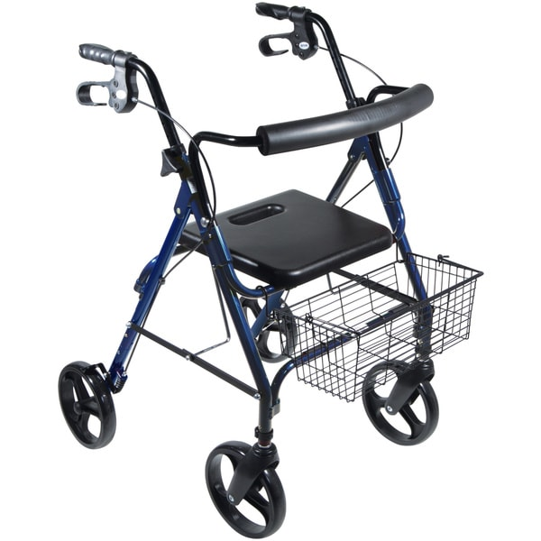 D-Lite Blue Aluminum with 8-inch Wheels Rollator Walker