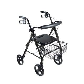 Drive D-Lite Black Aluminum with 8-inch Wheels Rollator Walker