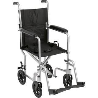 Deluxe Lightweight Aluminum Transport Wheelchair