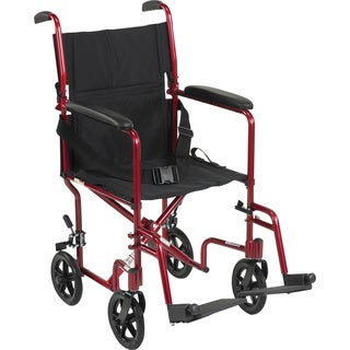 Deluxe Lightweight Aluminum Transport Wheelchair (More options available)