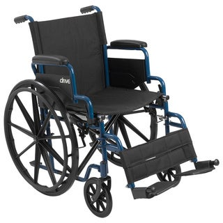 Drive Medical Blue Streak Wheelchair with Flip Back Desk Arms (5 options available)