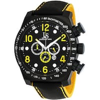 Joshua & Sons Men's Oversized Chronograph Stainless-Steel Sport Watch with Tachymeter