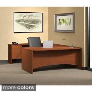 Mayline Brighton 5-piece U-Shaped Workstation Desk