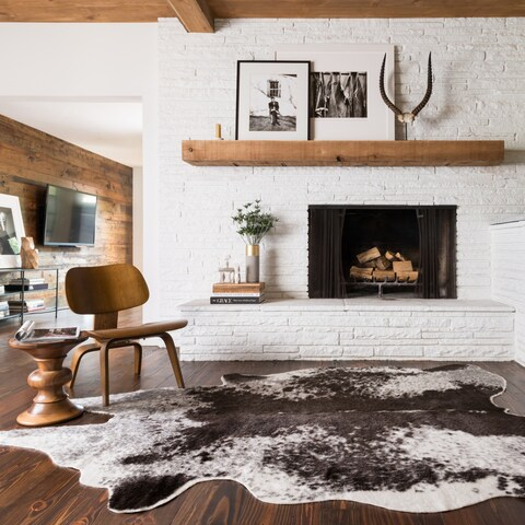 Faux Cowhide Area Rug