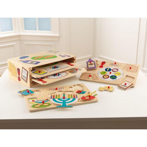 KidKraft Wooden Holiday Puzzle Set