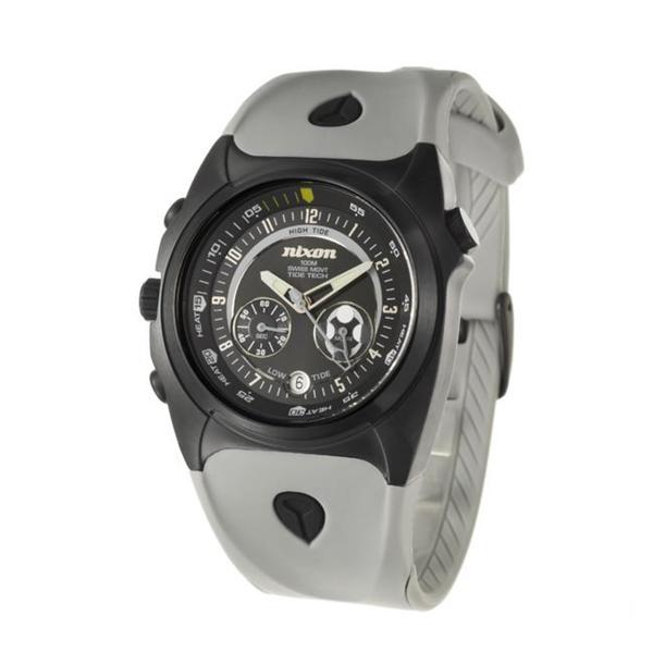 Nixon Men's 'The Channel T' Black Steel and Polyurethane Quartz Watch. Opens flyout.
