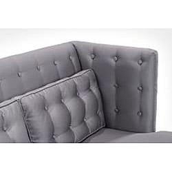 Modern Silver Satin Sofa