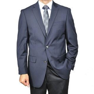 Men's Navy Blue 2-button Blazer|https://ak1.ostkcdn.com/images/products/5275149/Mens-Navy-Blue-2-button-Blazer-P13090636.jpg?_ostk_perf_=percv&impolicy=medium