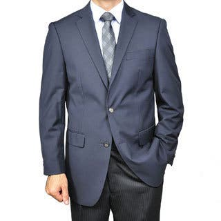 Men's Navy Blue 2-button Blazer|https://ak1.ostkcdn.com/images/products/5275149/Mens-Navy-Blue-2-button-Blazer-P13090636.jpg?impolicy=medium