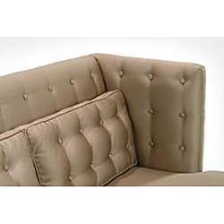 Modern Champagne Satin Fabric Sofa