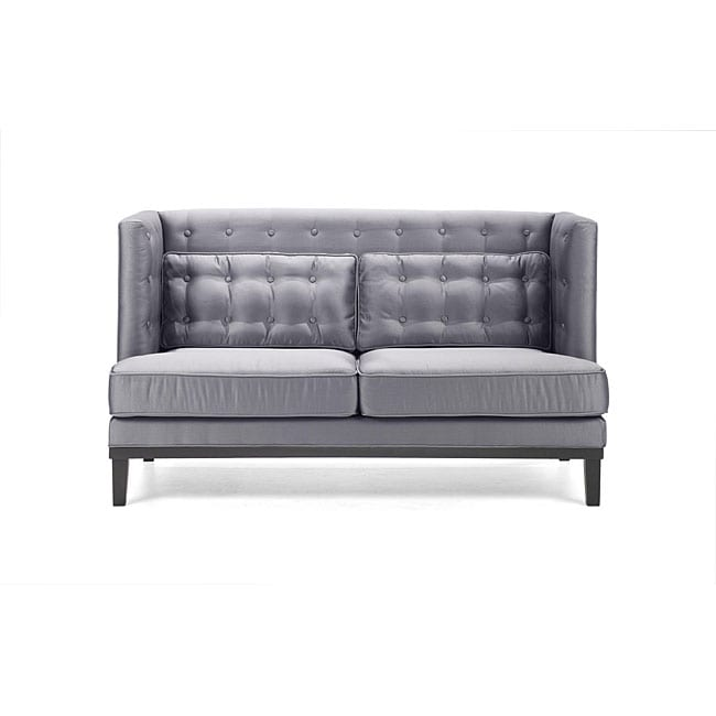 Modern Silver Satin Love Seat Free Shipping Today