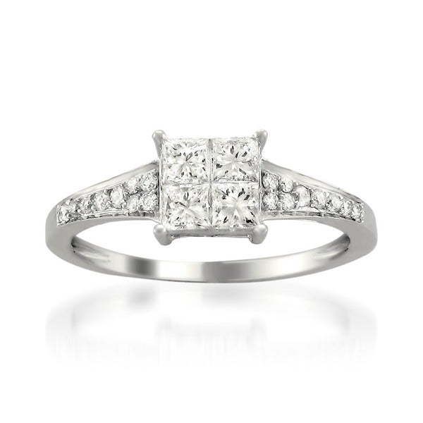 Montebello 14k White Gold 3/4ct TDW Diamond Composite Ring (H-I, I1-I2)