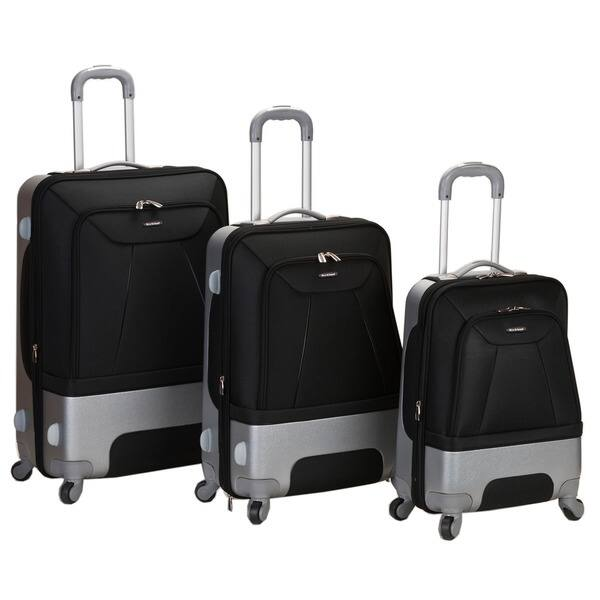 47ffd7a5f29e Shop Rockland Rome Spinner Expandable 3-piece Luggage Set - 28 X 19 ...
