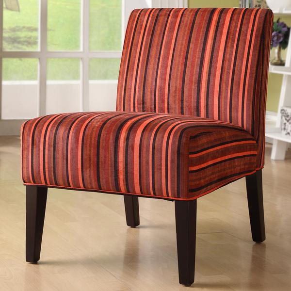 Tribecca Home Decor Red Stripe Lounge Chair