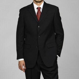 Men's Navy Blue Pinstripe 3-button Suit