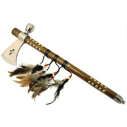 Cross Shape 19-inch Feather Detail Indian Axe