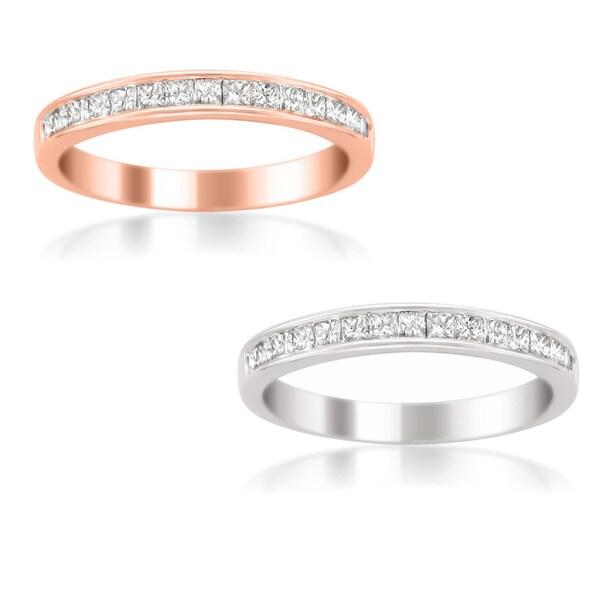 Brides Across America by Montebello 14k White Gold Women's 1/2ct TDW Certified Diamond 16-stone Wedding Band (G-H, SI3-I1)