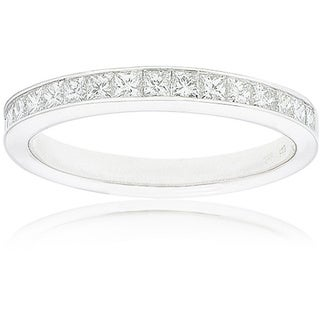 Montebello 14k White Gold Women's 1/2ct TDW Certified Diamond 16-stone Wedding Band (G-H, SI3-I1)