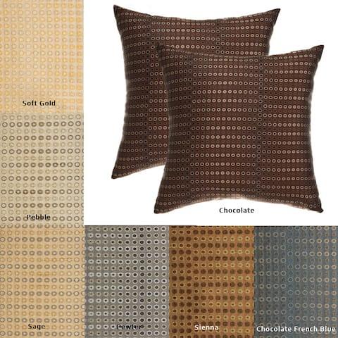 Jaipur Circle 18-inch Decorative Pillows (Set of 2)