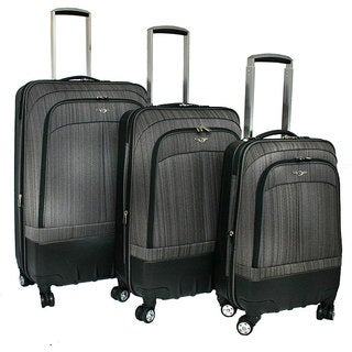 Rockland Milan Spinner Expandable 3-piece Luggage Set