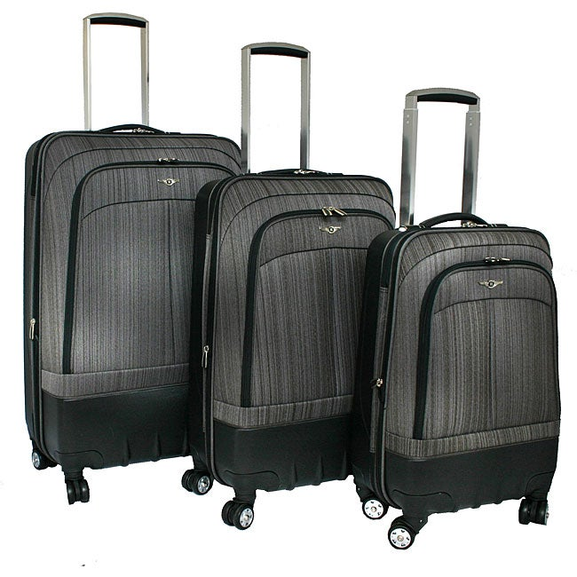 Rockland Milan Spinner Expandable 3-piece Luggage Set - Thumbnail 0