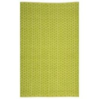 Handmade Thom Filicia Ackerman Key Lime Green Rug - 4' x 6'