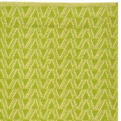Handmade Thom Filicia Ackerman Key Lime Green Rug (5' x 8') - Thumbnail 1