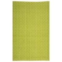 Handmade Thom Filicia Ackerman Key Lime Green Rug - 5' x 8'