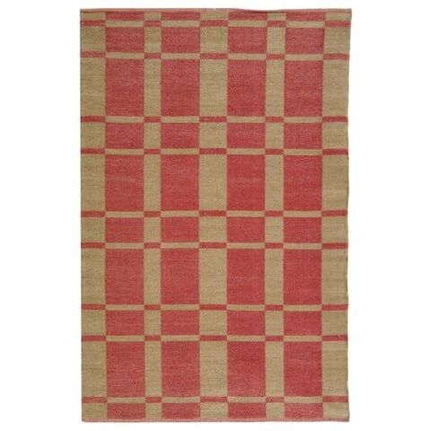 Handmade Thom Filicia Chatam India Red Outdoor Rug - 5' x 8'