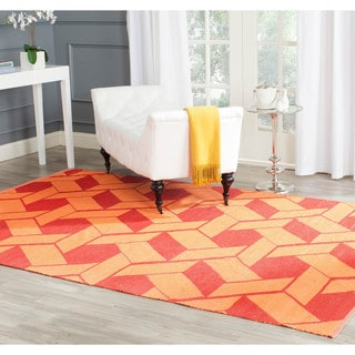 Handmade Thom Filicia Durston Blood Orange Outdoor Rug (5' x 8')