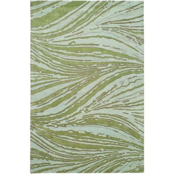 Handmade Thom Filicia Niagra Green N.Z. Wool Rug - 9' x 12'
