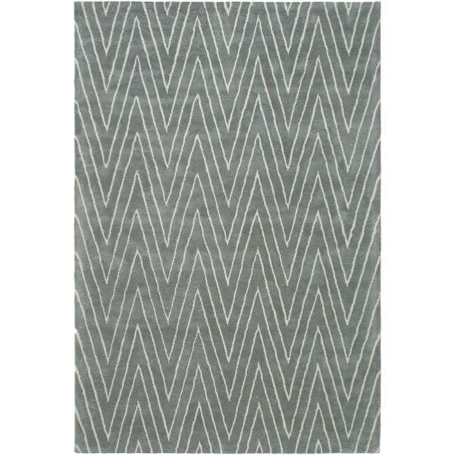 Thom Filicia Griffith Park Blue/ Stone N.Z. Wool Rug - 8' x 10'