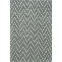 Thom Filicia Griffith Park Blue/ Stone N.Z. Wool Rug - 8' x 10' - Thumbnail 0