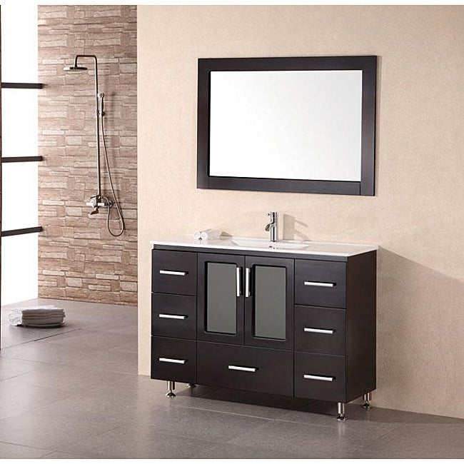 Design Element Stanton Inch Espresso Wood Bathroom Vanity