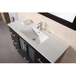 ... Design Element Stanton 48 Inch Espresso Wood Bathroom Vanity