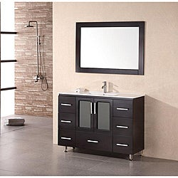 Design Element Stanton 48 Inch Espresso Wood Bathroom Vanity