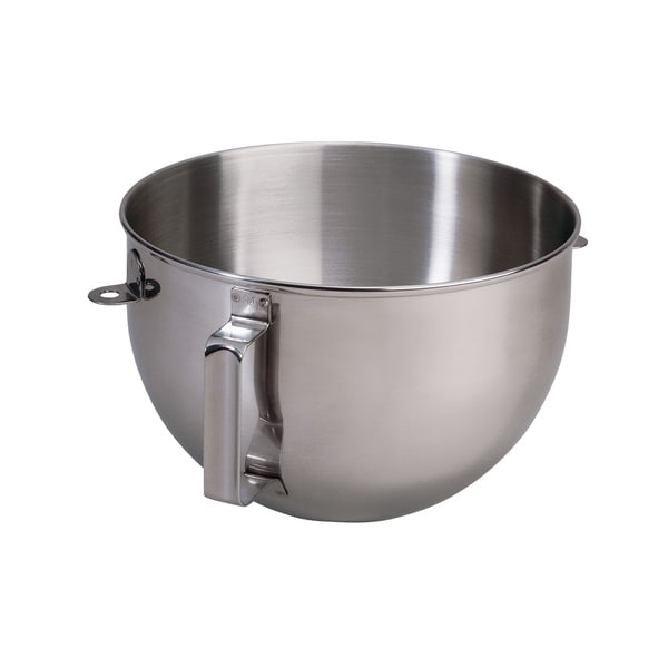 KitchenAid KN25WPBH Polished Stainless Steel 5-qt Mixer Bowl with Flat Handle